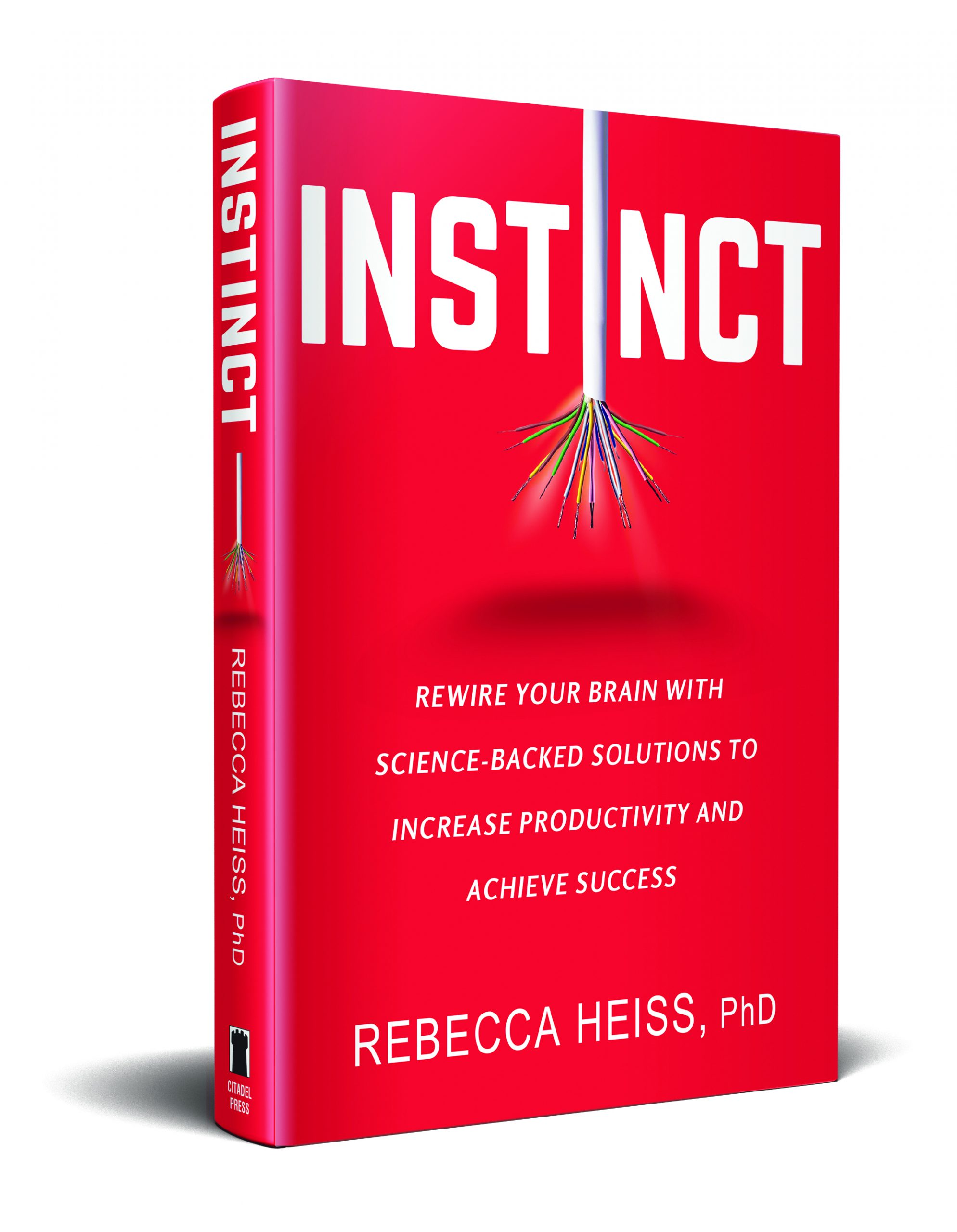 The cover of my new book, INSTINCT